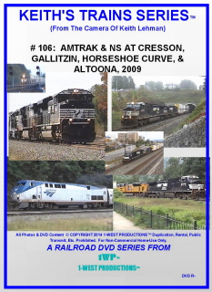 Image of Keith's Trains Series™ RR DVD #106 (1-West Productions™)