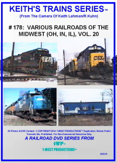 Image of Keith's Trains Series™ RR DVD #178 (1-West Productions™)