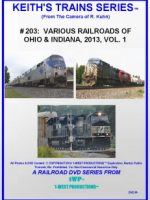 Image of Keith's Trains Series™ RR DVD #203 (1-West Productions™)