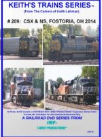 Cover image of Keith's Trains Series™ RR DVD #209 (1-West Productions™)