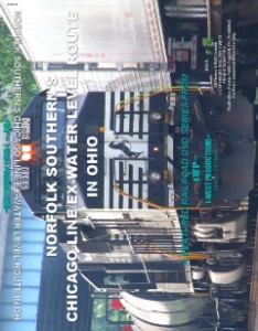 Image of Norfolk Southern's Chicago Line/Ex-Water Level Route In Ohio™ Railroad DVD- 1-West Productions™ DVD cover